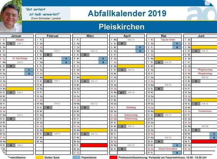 Neue Müllabfuhrkalender